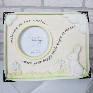 Other - Welcome Baby Picture Frame Rabbit Ceramic